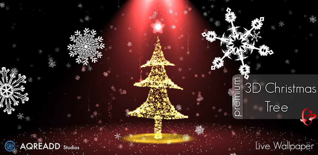 3D Xmas Tree Christmas Live Wallpaper